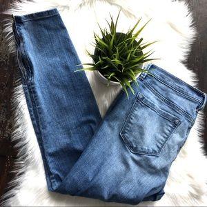 ANN TAYLOR LOFT Curvy Skinny Zipper Jeans 30 8 EUC